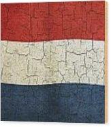 Grunge Netherlands Flag Wood Print