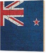 Grunge New Zealand Flag Wood Print