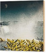 Grunge Niagara Wood Print