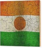 Grunge Niger Flag Wood Print