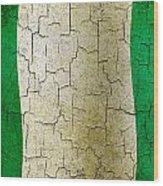 Grunge Nigeria Flag Wood Print