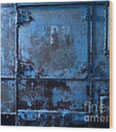 Grunge Old Metal Texture Wood Print