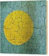 Grunge Palau Flag Wood Print