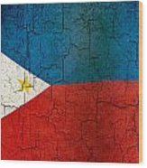 Grunge Philippines Flag Wood Print