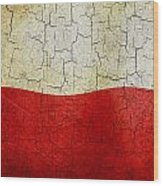 Grunge Poland Flag Wood Print