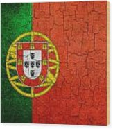Grunge Portugal Flag Wood Print