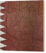 Grunge Qatar Flag Wood Print