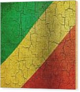 Grunge Republic Of The Congo Flag Wood Print