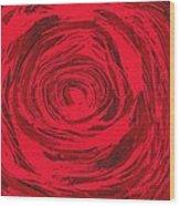Grunge Rose Wood Print