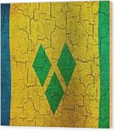 Grunge Saint Vincent And The Grenadines Flag Wood Print