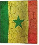 Grunge Senegal Flag Wood Print