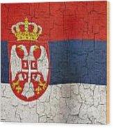 Grunge Serbia Flag Wood Print