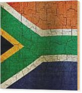 Grunge South Africa Flag Wood Print