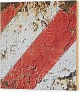 Grunge Stripe Background Wood Print