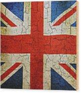 Grunge Union Flag Wood Print