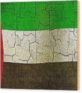 Grunge United Arab Emirates Flag Wood Print
