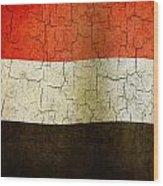 Grunge Yemen Flag Wood Print