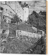 Gruyeres Castle Bw Wood Print