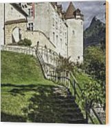 Gruyeres Castle Wood Print