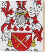 Grymes Coat Of Arms Irish Wood Print