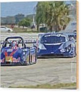 Gtp Prototypes Taking 4 At Sebring Wood Print