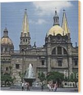 Guadalajara Cathedral Mexico Wood Print