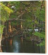 Guadalupe River 2am-115627 Wood Print