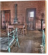 Guard Shack Day Room Wood Print