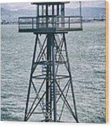 Guard Tower Alcatraz Wood Print