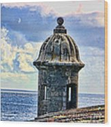 Guard Tower At El Morro Wood Print