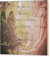 Guardian Angel Blessings Wood Print