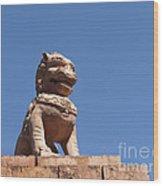 Guardian Chinese Lion Wood Print