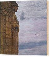Guardian Of Hope Wood Print