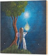 Guardian Of Light By Shawna Erback Wood Print