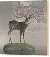 Guardian Of Spring Wood Print
