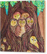 Guardians Of The Forest Wood Print