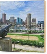 Guarding Baltimore Wood Print by Olivier Le Queinec