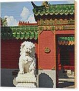 Guarding The Gate Wood Print