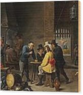 Guardroom With The Deliverance Of Saint Peter Wood Print