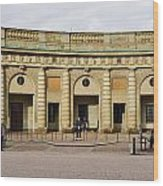 Guards Changing Shifts. Kungliga Slottet.gamla Stan. Stockholm 2 Wood Print