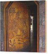 Guatemala Door 1 Wood Print