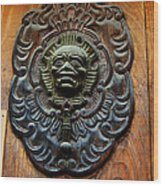 Guatemala Door Decor 1 Wood Print