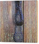Guatemala Door Decor 4 Wood Print