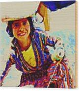 Guatemala Fisher Boy Smiling Wood Print