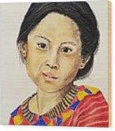 Guatemala Girl  Wood Print
