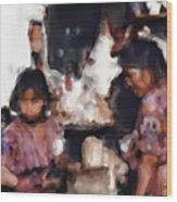 Guatemala Shopping Wood Print