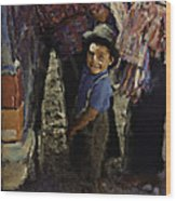 Guatemalan Boy Wood Print