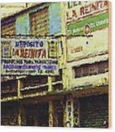 Guatemalan Street Billboard Wood Print