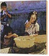 Guatemalan Children Wood Print