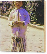 Guatemalan Little Boy Wood Print
